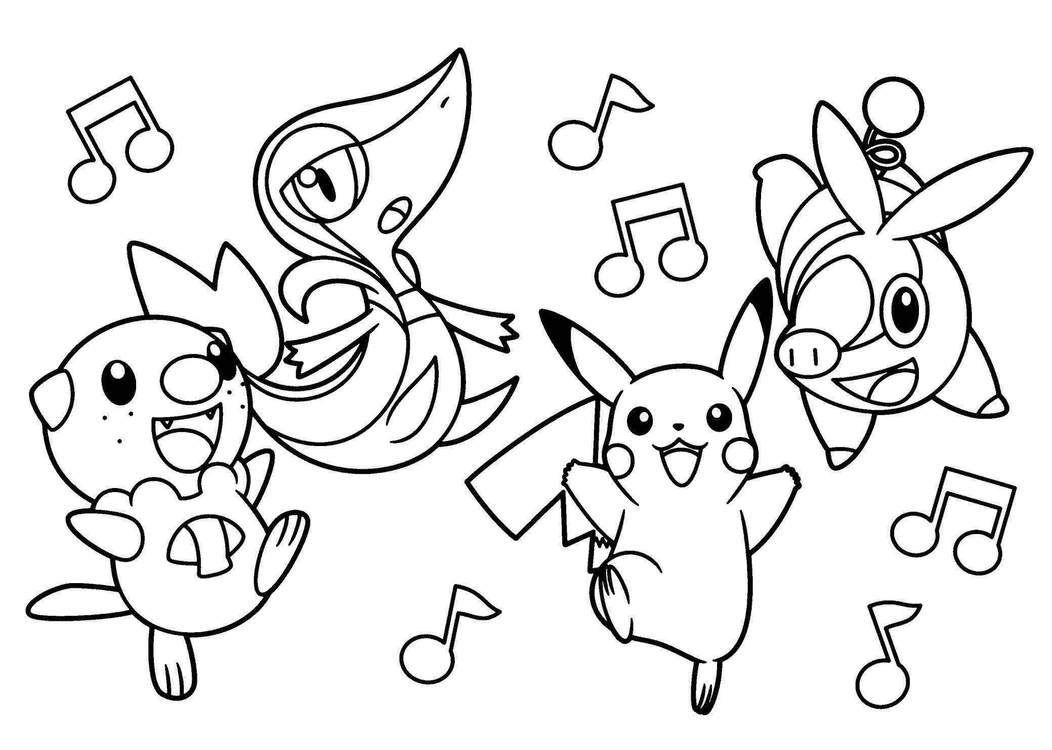 Pokemon Coloring Pages Printable Black And White Pokemon