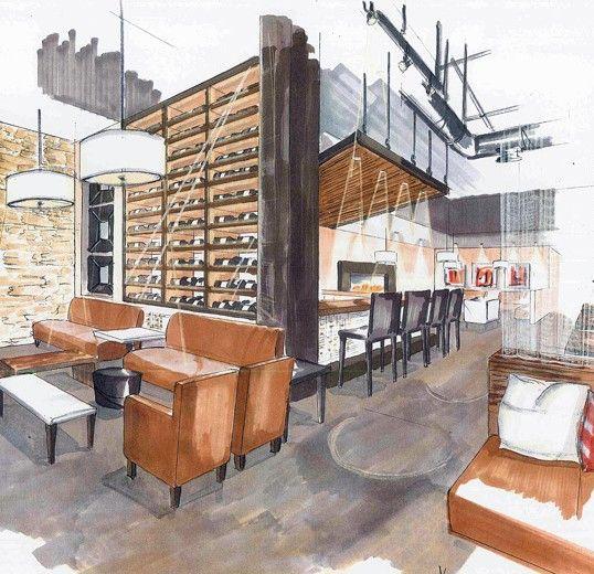 Dise o restaurant render el papel de la arquitectura for Studio 84 diseno de interiores