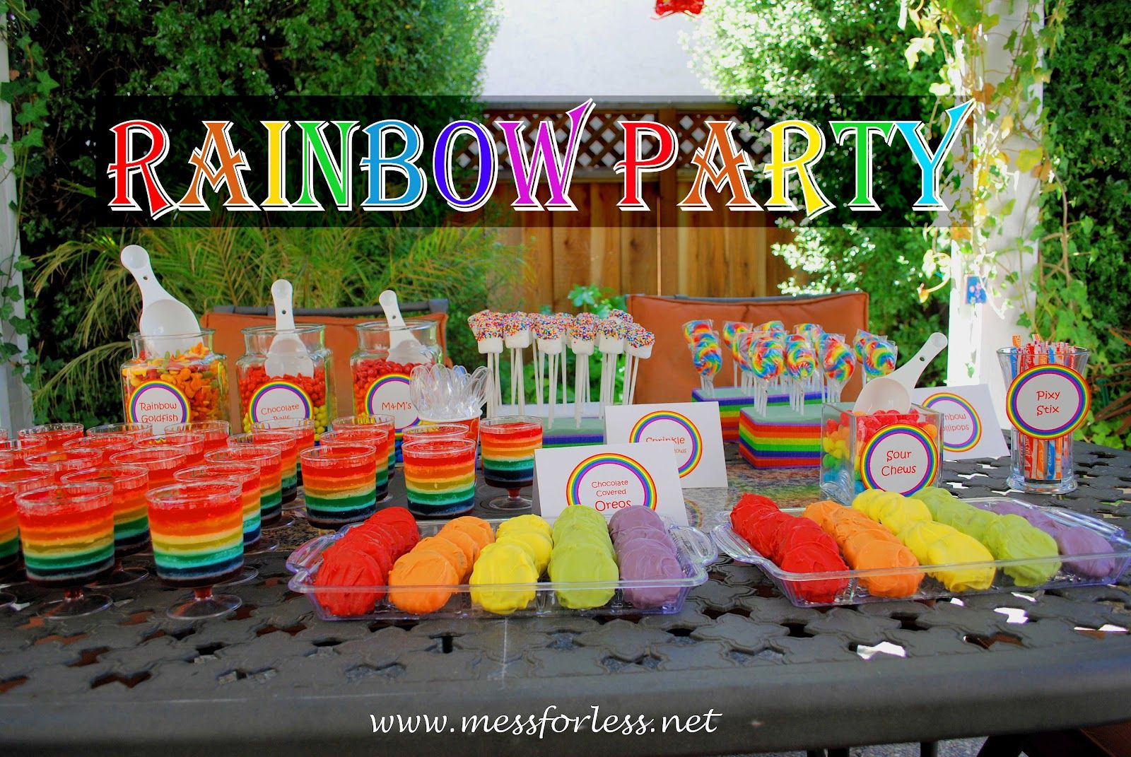 4 year old birthday party ideas girls | rainbow party ideas, rainbow