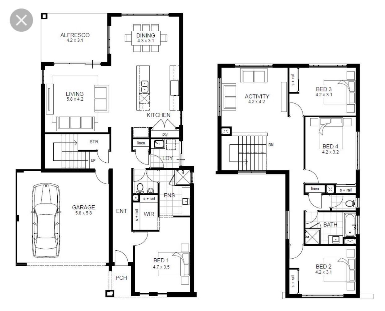 modern two bedroom house plans alexandra house floor plan 19289