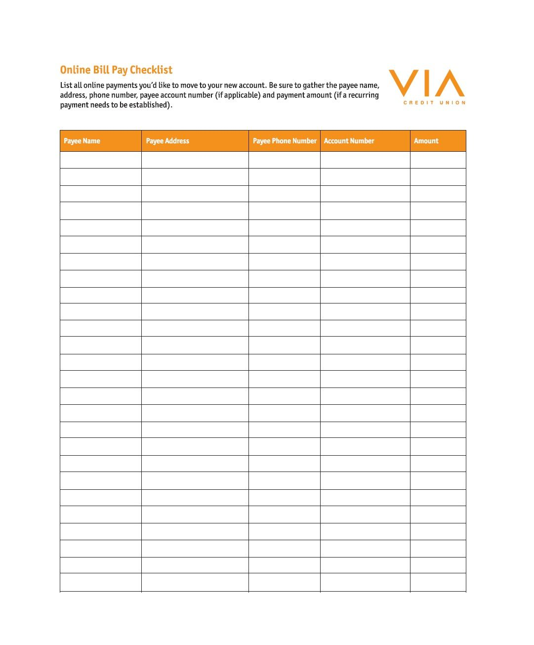 Accounts Payable Checklist Template