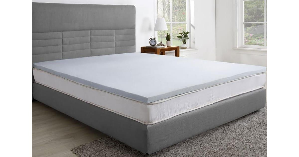 Trafalgar Cool Gel Infused Memory Foam Mattress Topper With Bamboo Cover King Mattress Toppers Foam Mattress Topper Best Mattress Mattress Topper