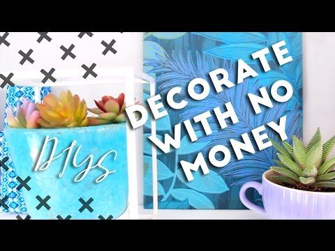 Decorate With No Money, Budget DIY Room Decor   Paper Banners, Paper Boxes,