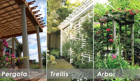 pergolas and arbors | Pergola, Trellis or Arbor: How Can You Tell The  Difference? - Pergolas And Arbors Pergola, Trellis Or Arbor: How Can You Tell