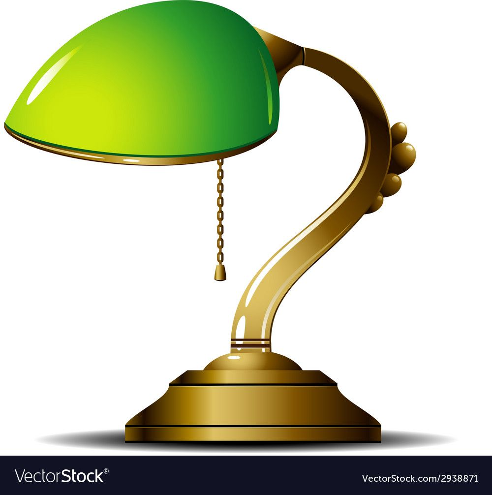 Green Lamp Vector Image On Vectorstock Green Lamp Lamp Desk Lamp