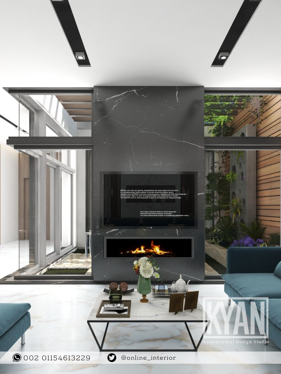 من أعمالنا تصميم صالة عائلية مفتوحة مطلة على الحديقة الداخلية لطلبات التصميم والتنفيذ التواصل على 00201154613229 مهندس د Living Area Interior Design Home