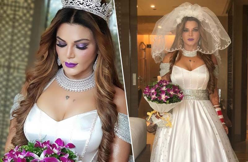 Rakhi Sawant Looked Gorgeous In Her Bridal Avatar Bridal Photoshoot White Gowns Bridal