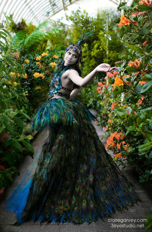 Peacock Gown from Dublin designer Claire Garvey