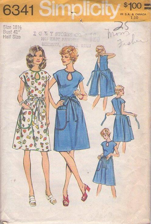 MOMSPatterns Vintage Sewing Patterns - Simplicity 6341 Vintage 70\'s ...
