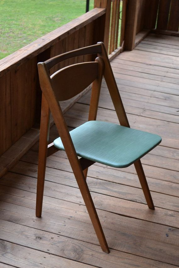 Stakmore Folding Chairs Vintage.Mid Century Modern Vintage Stakmore Wood Folding By