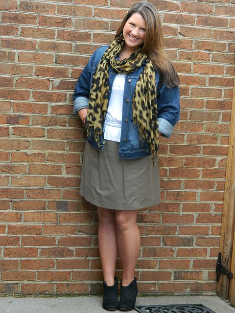 Denim jacket and leopard with neutral items