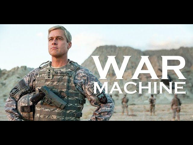As The Story S Core Is Brad Pitt S Sly Take On A Successful Charismatic Four Star General Who Leapt In Like A Rock Star To Brad Pitt War Machine Netflix Movie