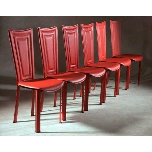 Magnifique Chaises Rouges Salle A Manger Decoration Francaise