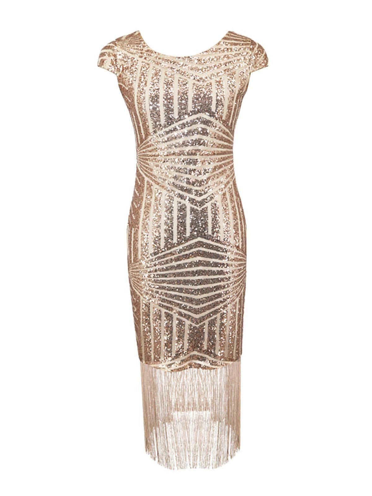 Pink s sequin fringed dress pinterest sequins dress types