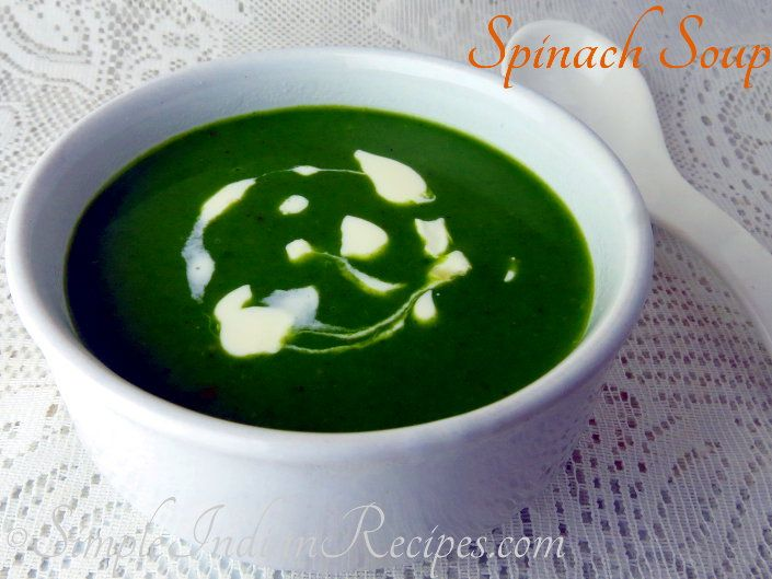 Spinach Soup - Healthy & Creamy Palak Soup #spinachsoup