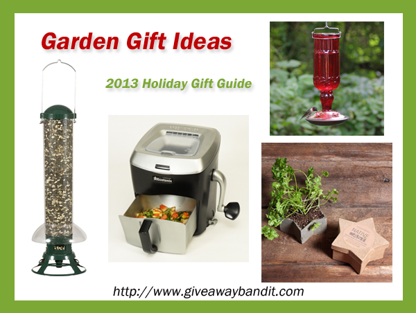 Garden Gift Ideas for the Holidays - 2013 Holiday Gift Guide. Squirrel slammer, the Green Cycler, NativeCast, Hummingbird Feeder and more!