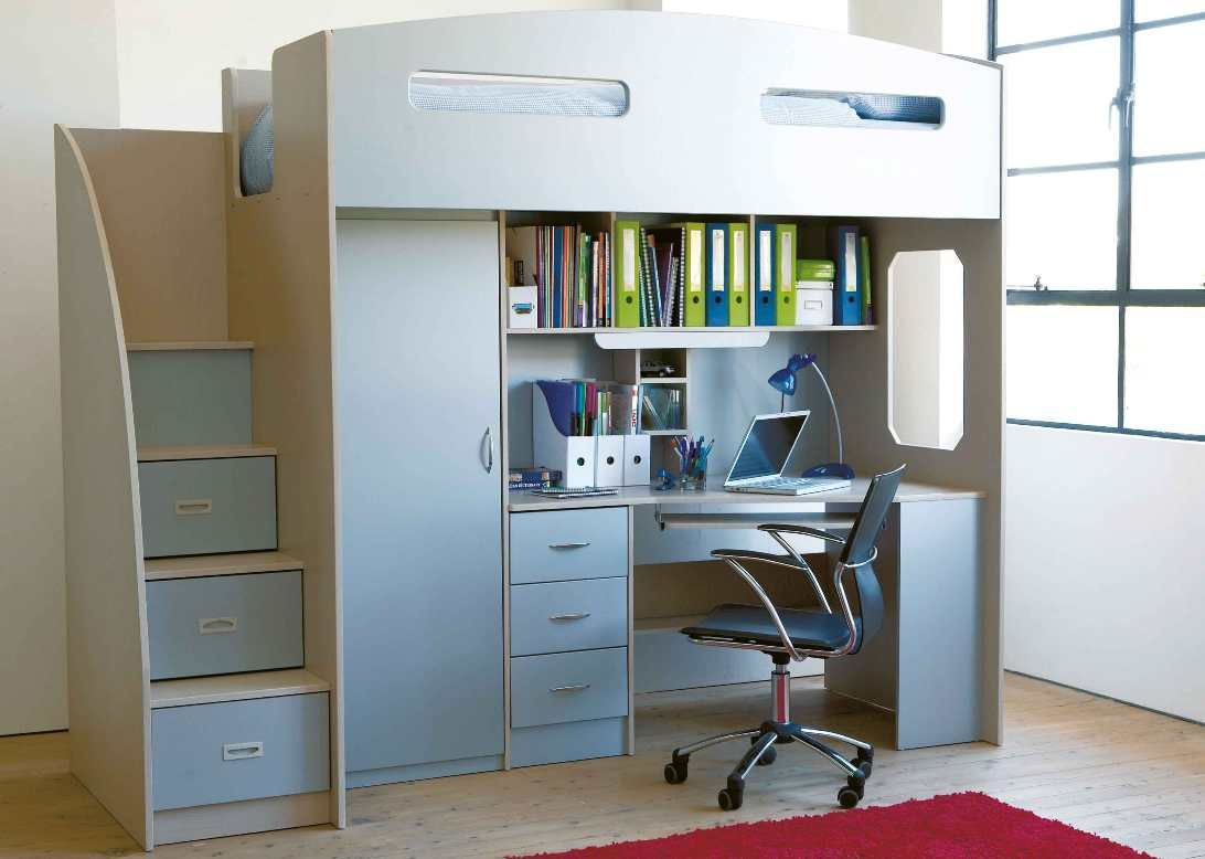 odyssey space saver bunk bed steps instead of ladders which are also drawers desk shelves. Black Bedroom Furniture Sets. Home Design Ideas