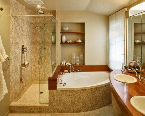 la petite baignoire d 39 angle est la princesse de votre salle de bains d cors. Black Bedroom Furniture Sets. Home Design Ideas