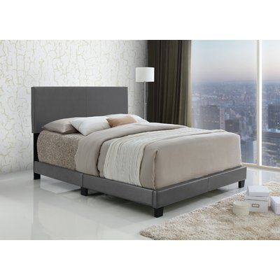 Ebern Designs Geiger Upholstered Panel Bed Size: Queen, Color: Gray