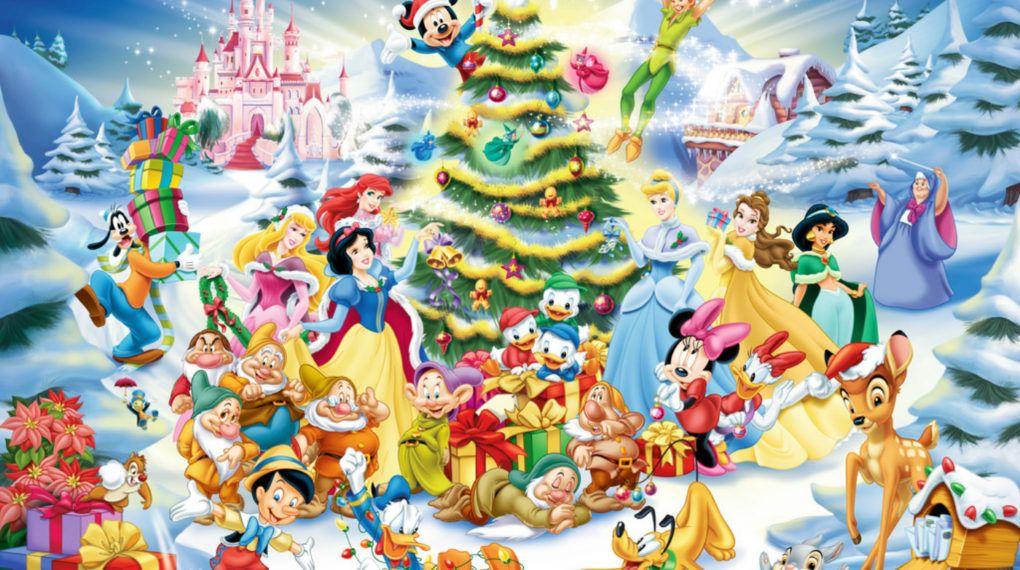 download disney christmas wallpaper background