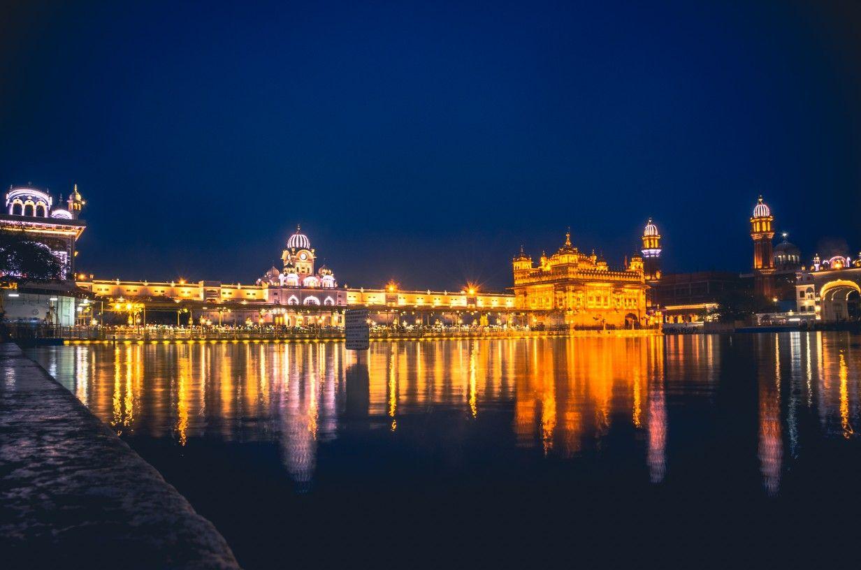 Golden Temple At Night Amritsar India Golden Temple Amritsar Golden Temple India Travel