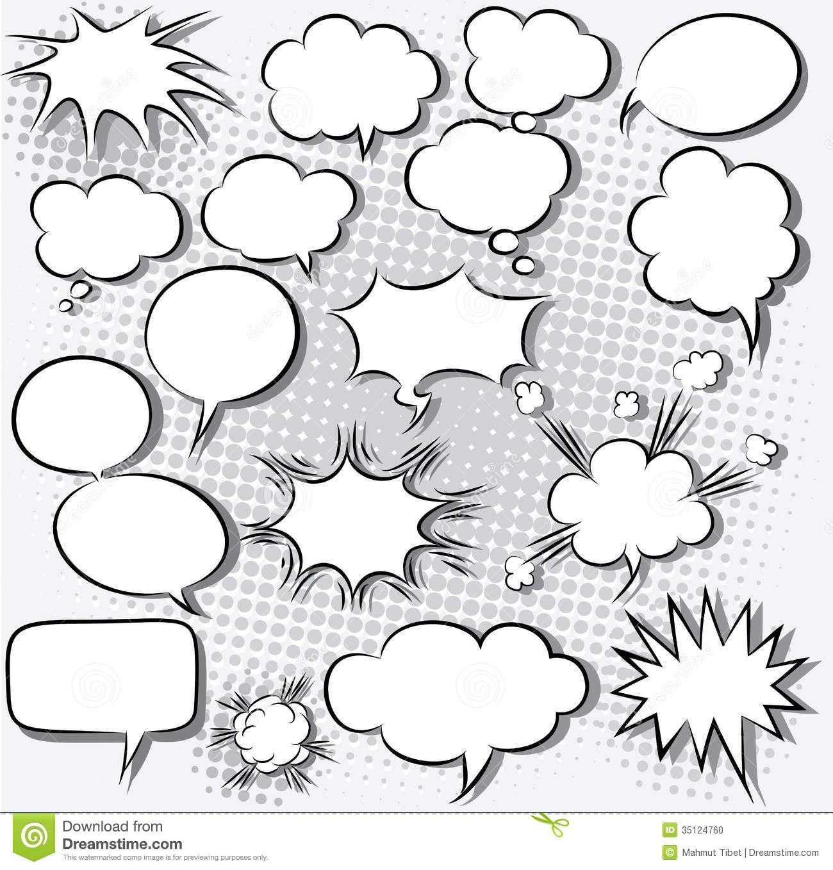 Comic Bubbles Comic Speech Bubbles Stock Photo Image 35124760 Free Art Prints Speech Bubble Comic Bubble