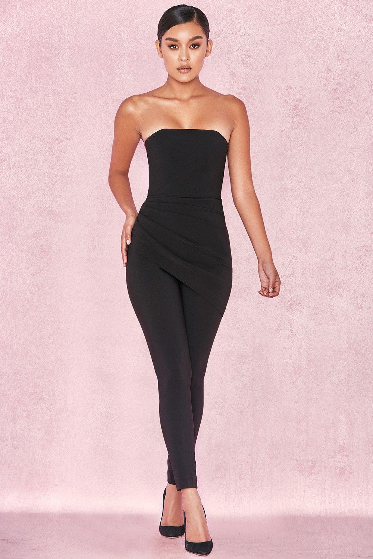 7c05bc1592f Clothing   Jumpsuits    Leonida  Black Strapless Jumpsuit