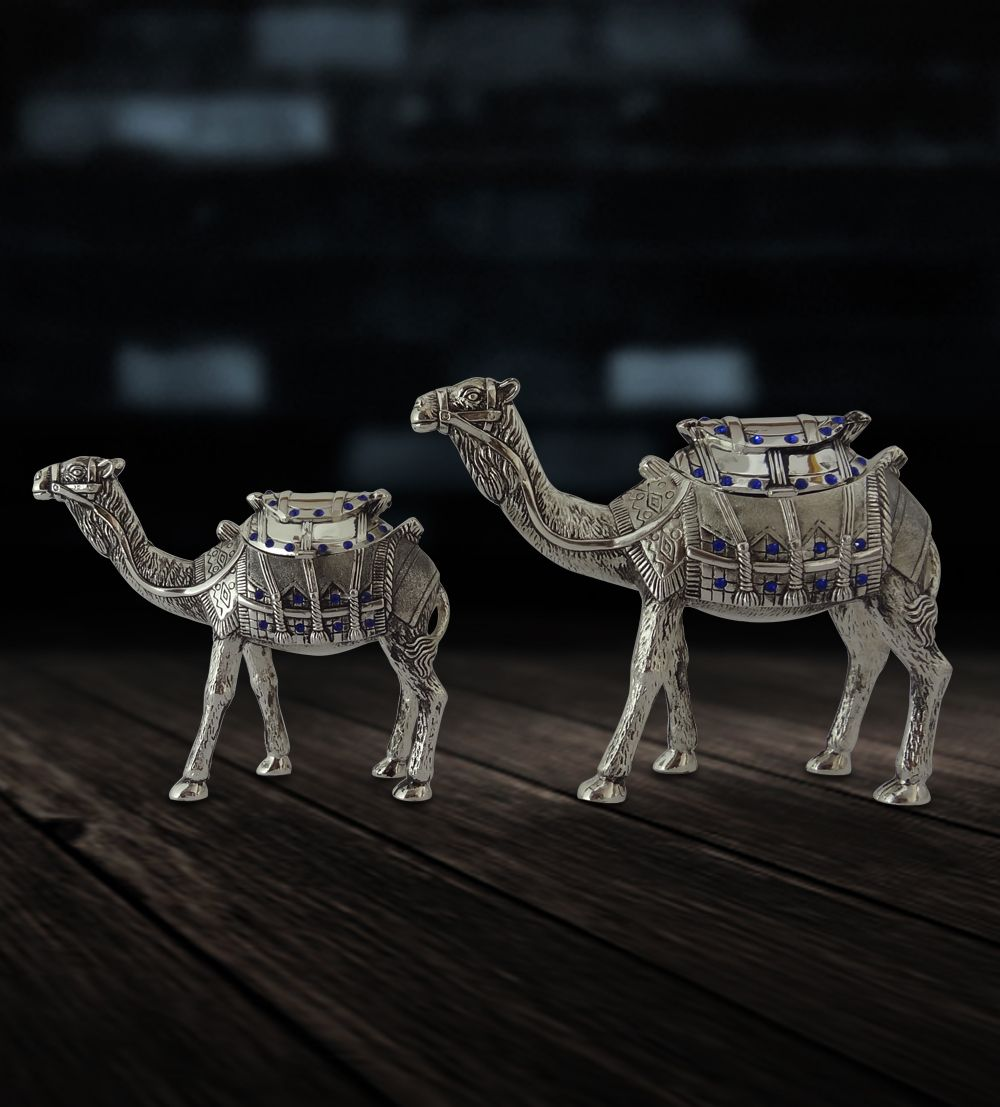 Camel Standing Pair Online Gift Shopping India Silver Plated