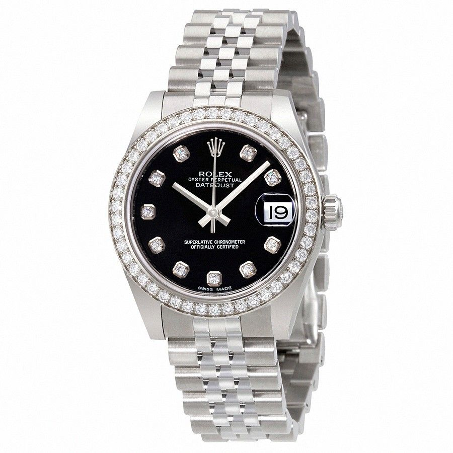 Rolex Datejust Lady 31 Black Dial Stainless Steel Jubilee Bracelet Automatic Watch 178384bkdj Rolex Jubilee Rolex Rolex Datejust