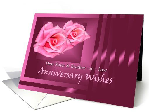 Anniversary wishes for sister and her husband greeting card