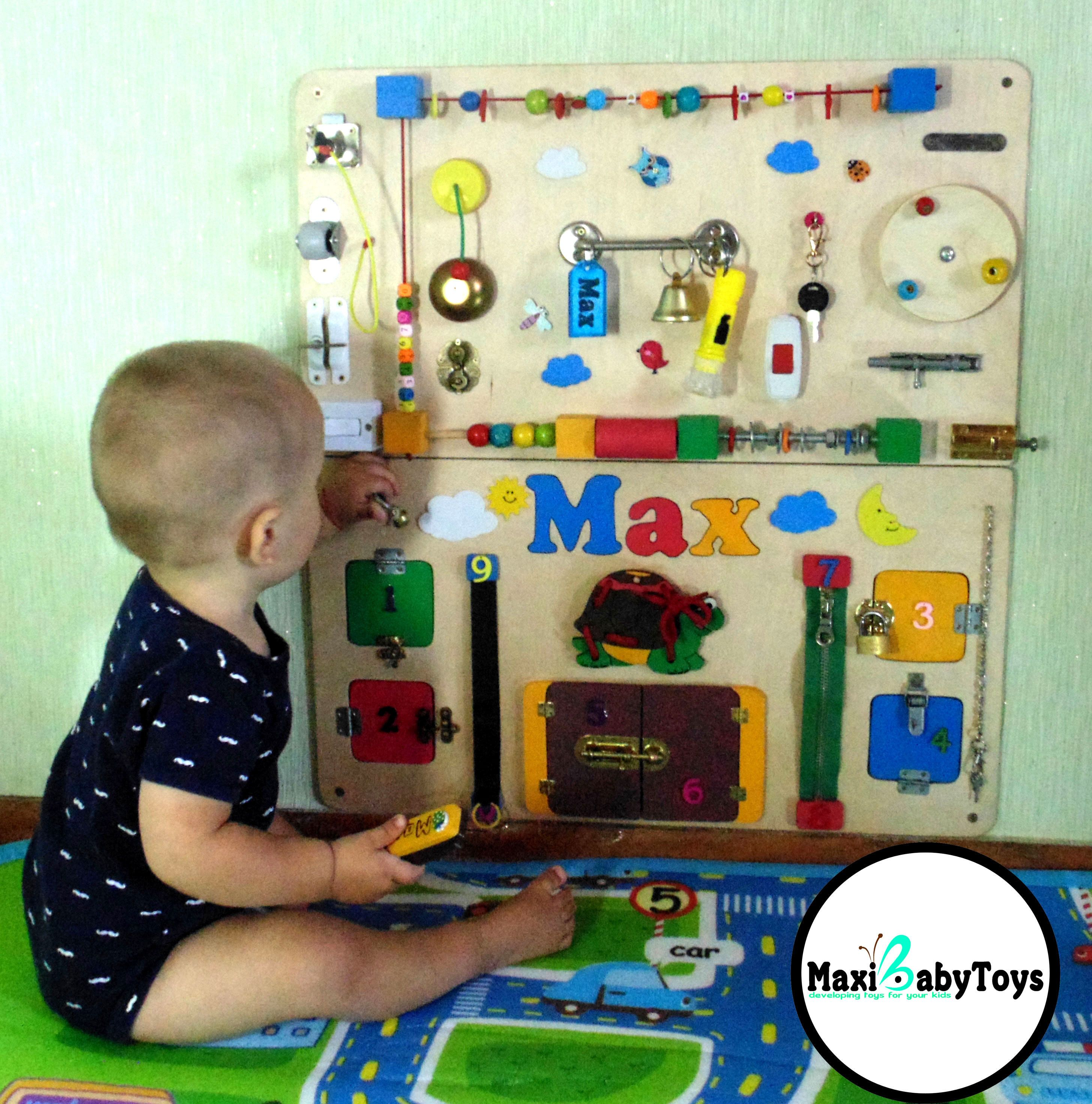 Baby Activity Board, Baby Sensory Board, Sensory Boards, Sensory Wall, Baby  Toys 1a23d994ebc