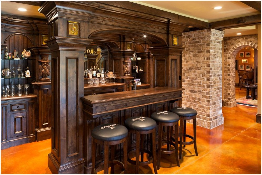 Traditional Wood Bar Google Search Home Bar Designs Basement