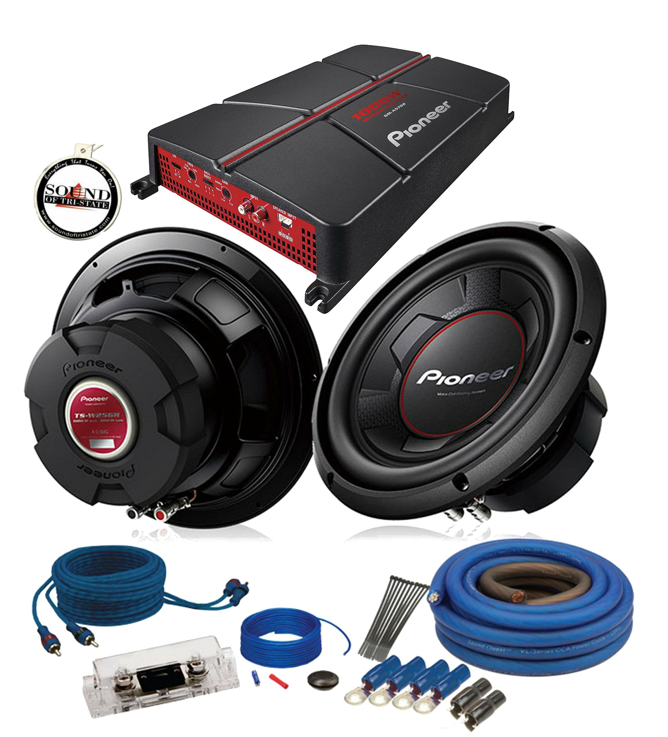 Pioneer Gm A5702 Amplifier With 2 Ts W256r 10 Subwoofers 4ga Subwoofer Amp Wiring Kit A Free Sots Air Freshener