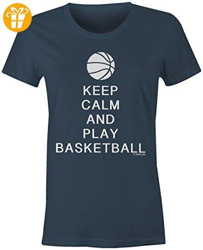 KEEP CALM and play Basketball ☆ Rundhals-T-Shirt Frauen-Damen ☆ hochwertig