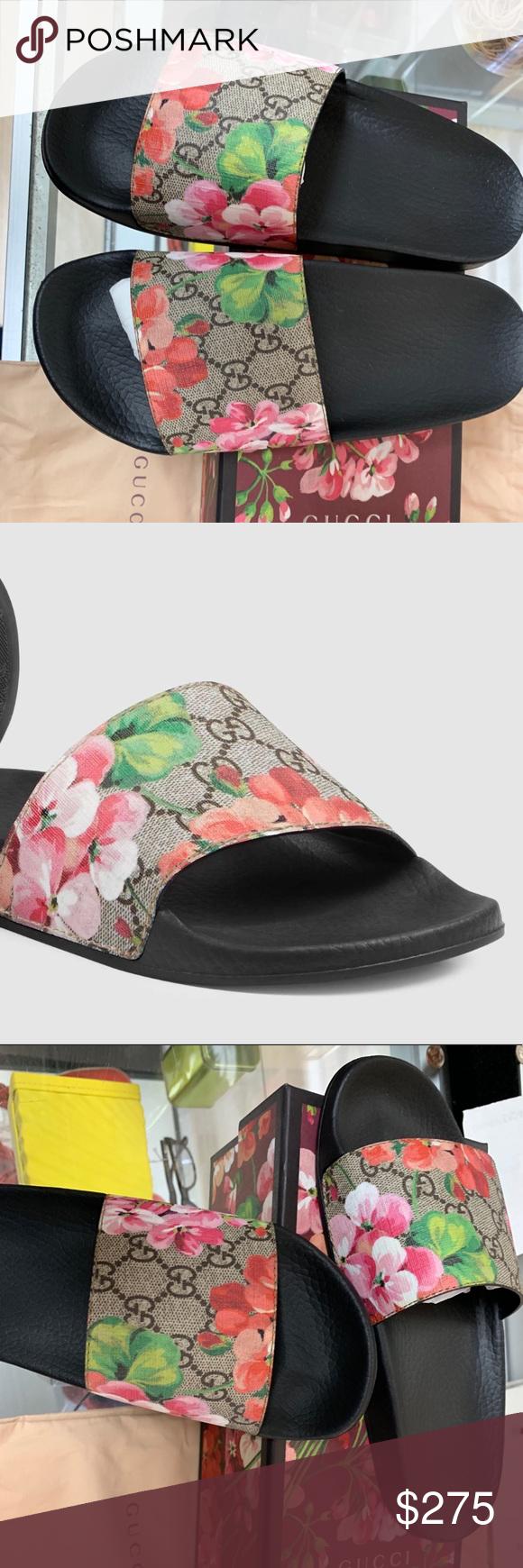 2af284458 GG Blooms Supreme slide sandal GUCCI SIZE 38G Brand new