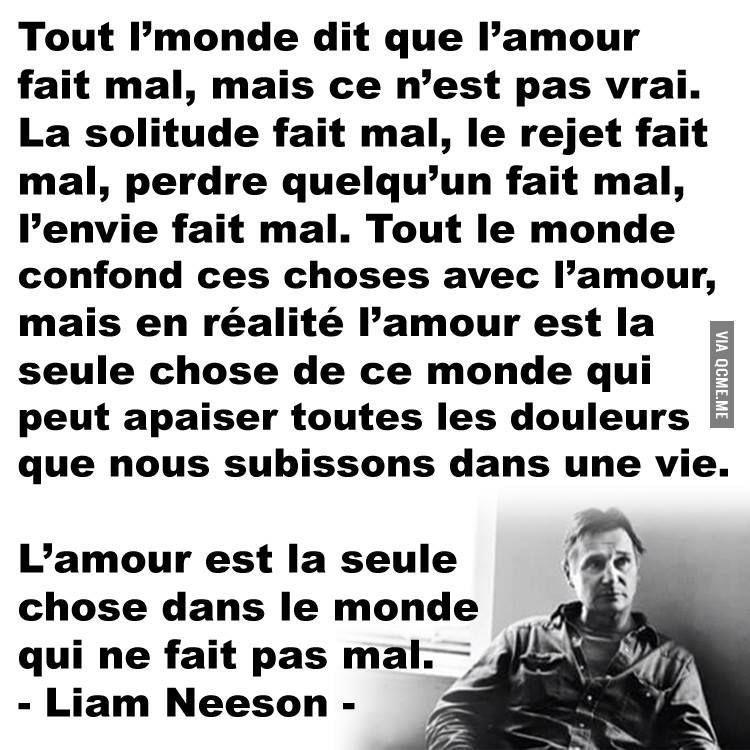 Très Liam Neeson | Paroles, Pensées✨ | Pinterest | Citation, Petit  RN73