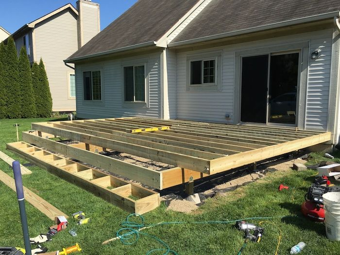 How To Build A Floating Deck New House Backyard
