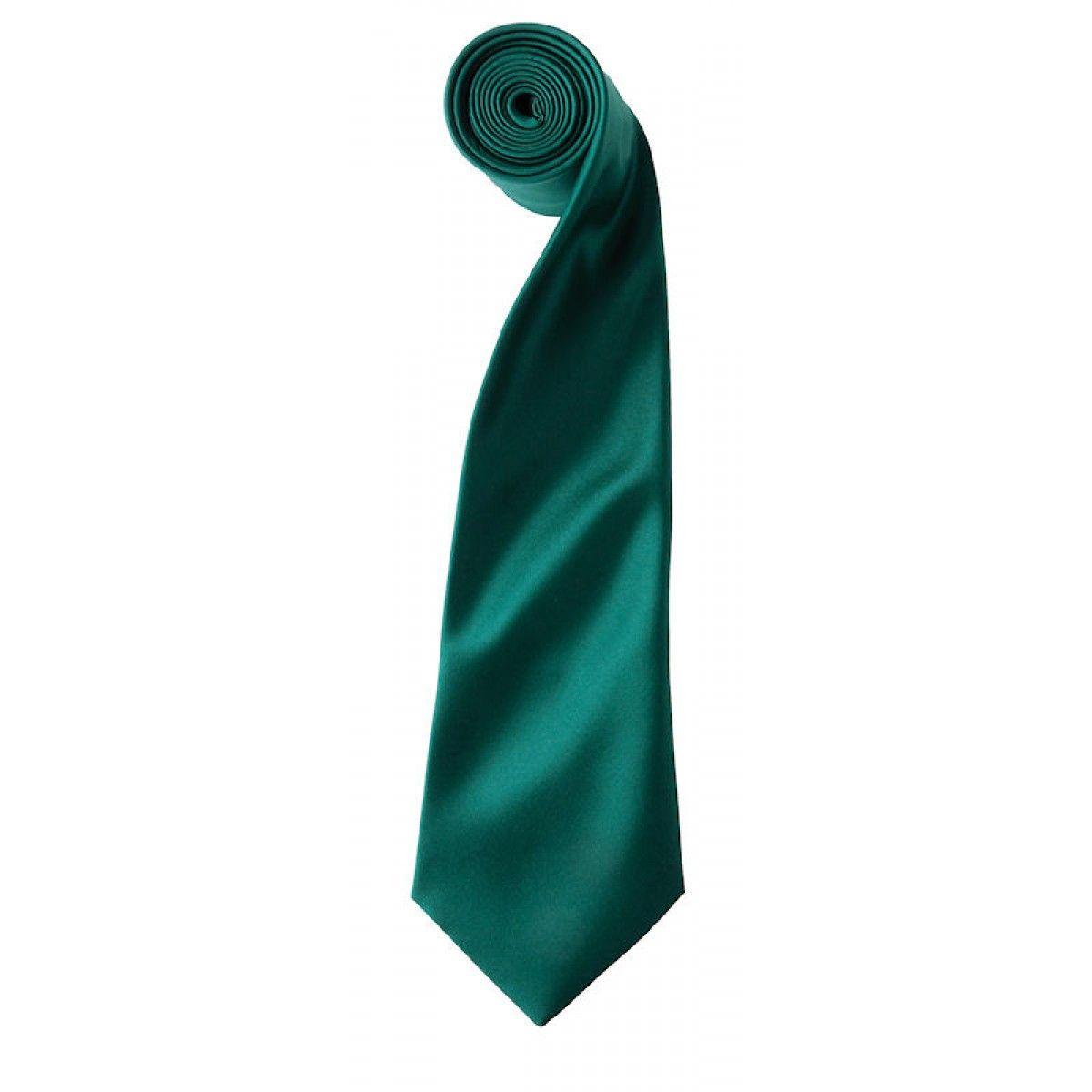 Satijnen stropdas donkergroen