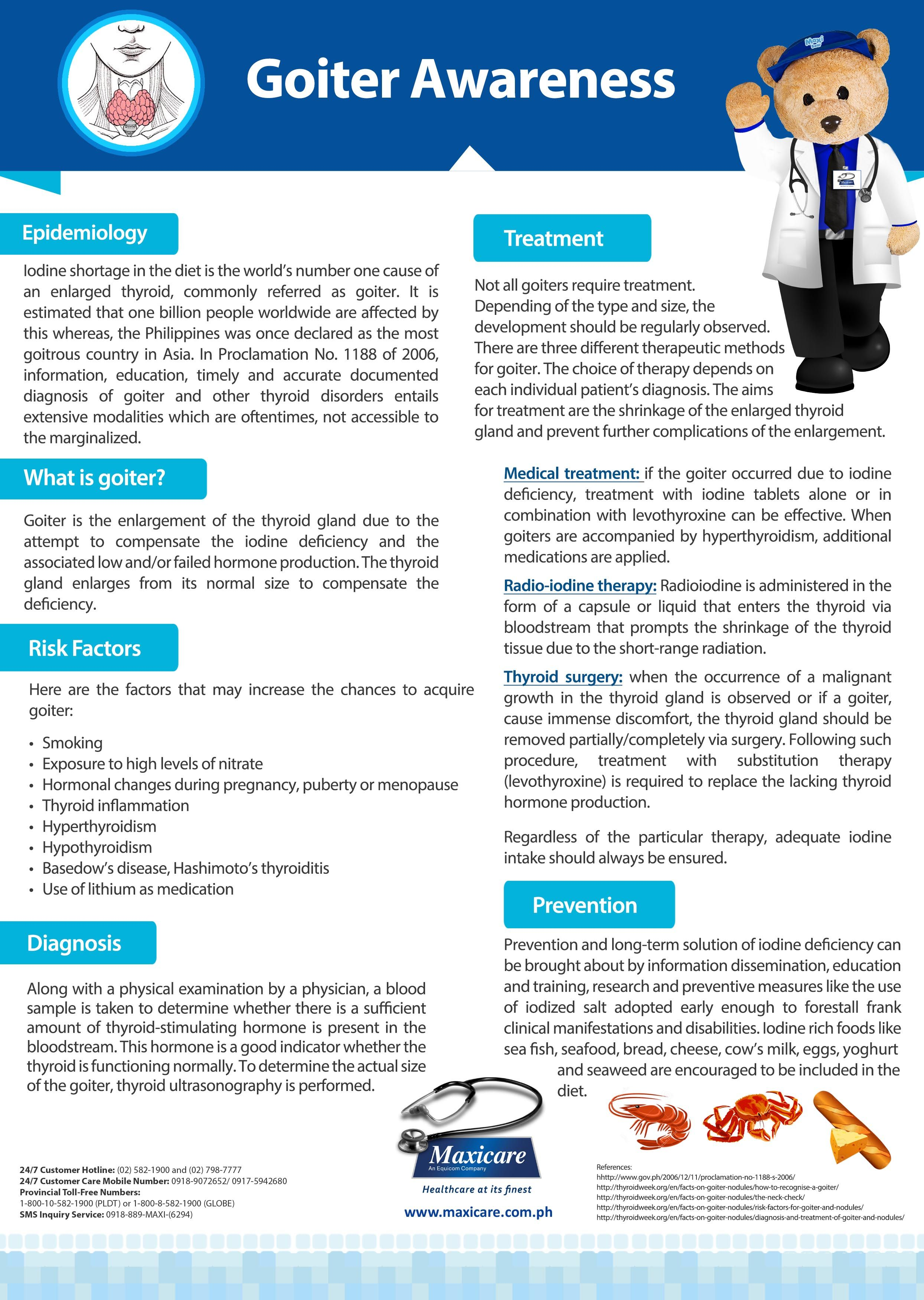 Goiter maxicare infographic health is wealth