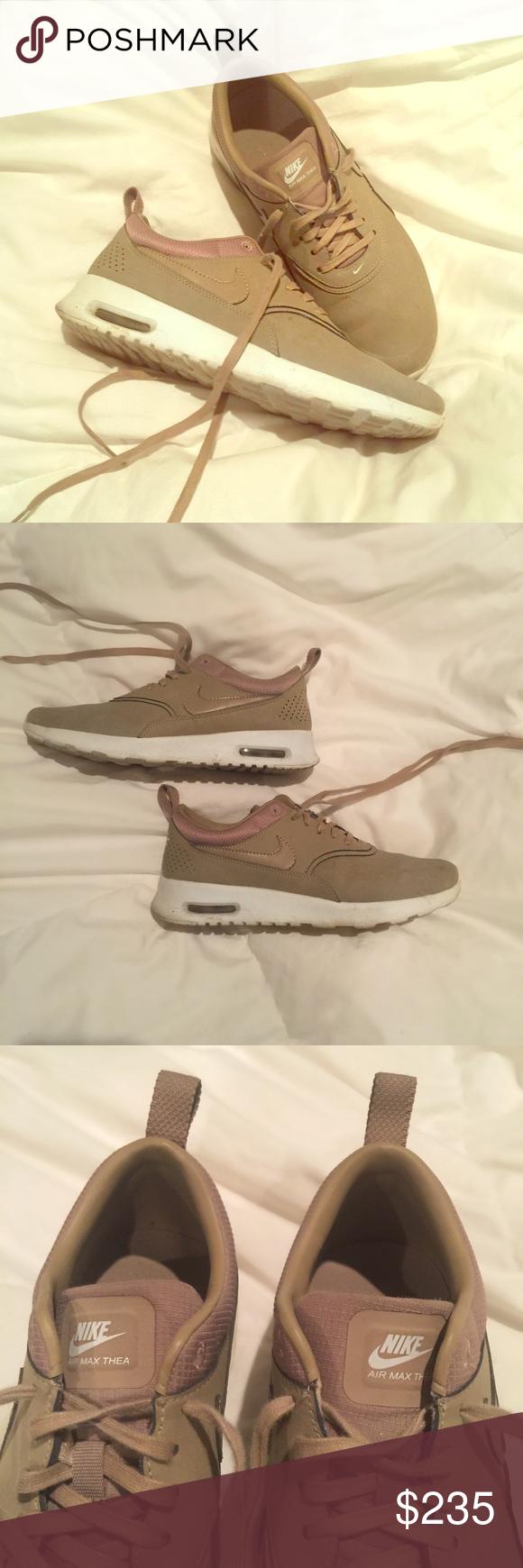 Nike Air Max Thea Premium Desert Camo EUC Size 7.5 Kendall
