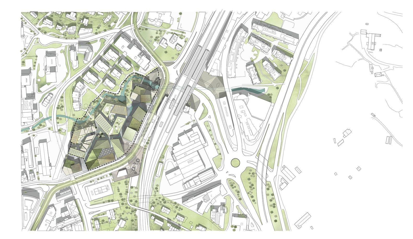 schmidt hammer lassen Wins Competition to Masterplan Skøyen in Central Oslo,Plan. Image © schmidt hammer lassen