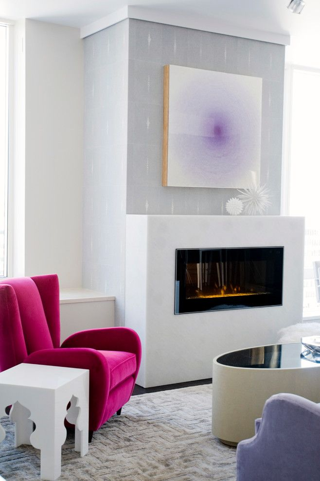 Splashy Electric Fireplace Insert In Living Room Contemporary With Stunning Living Rooms With Fireplaces Review