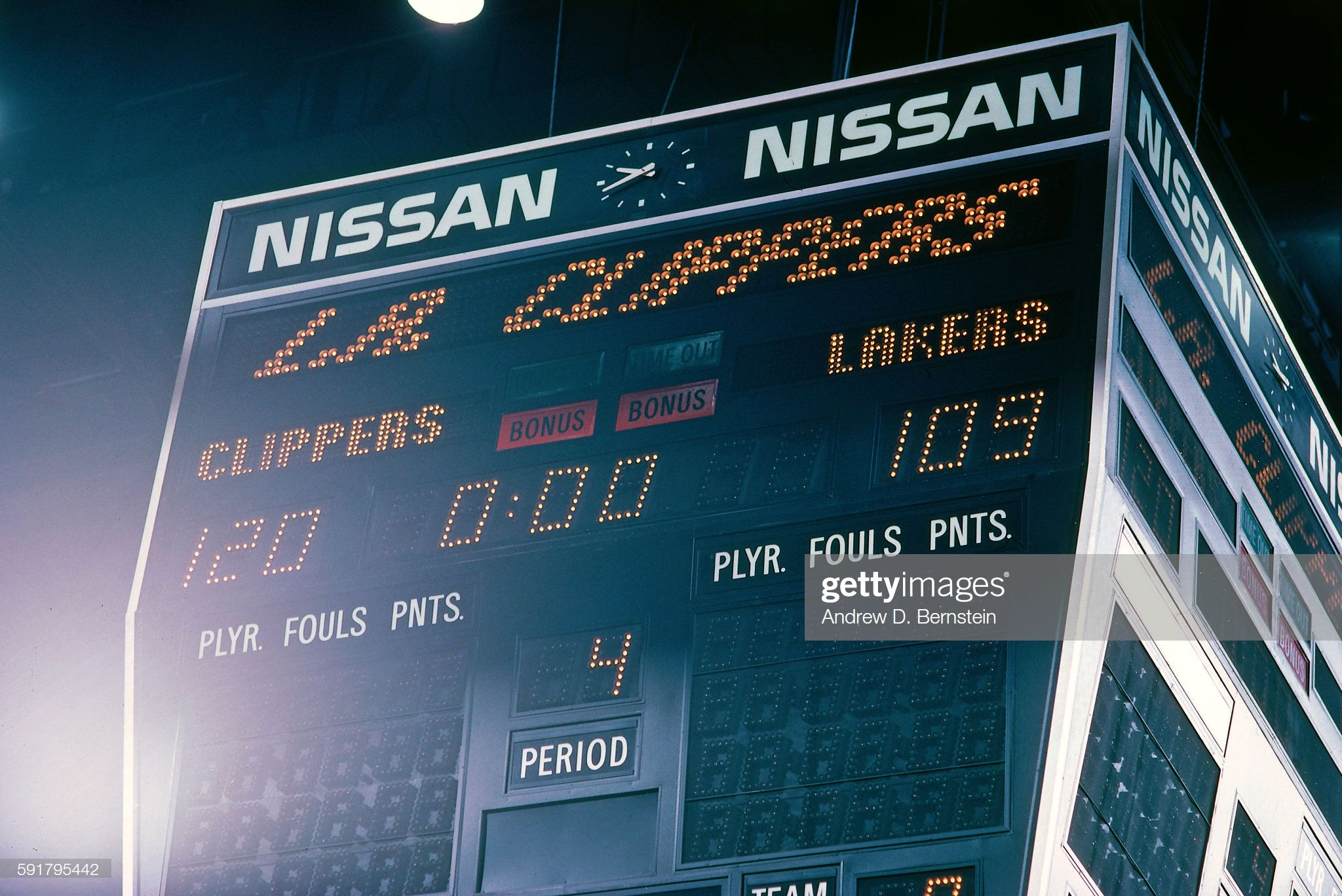 A General View Of The Scoreboard After The Game Between The Los In 2020 Los Angeles Clippers Scoreboard Sports Arena