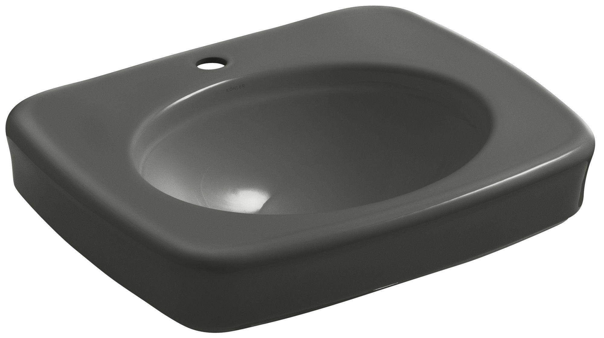 Bancroft Pedestal Bathroom Sink Bowl with Single Faucet Hole