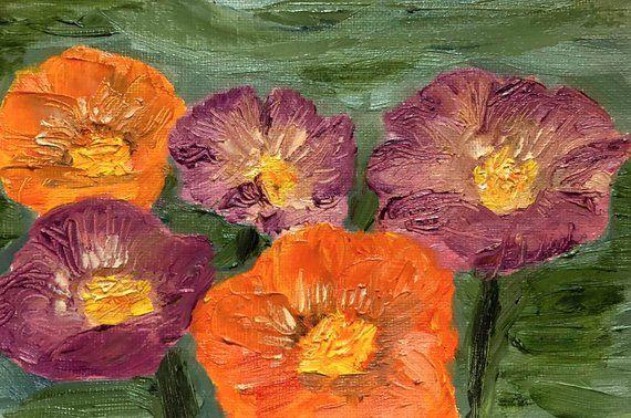 image 0 | Oil painting flowers, Original oil painting ...