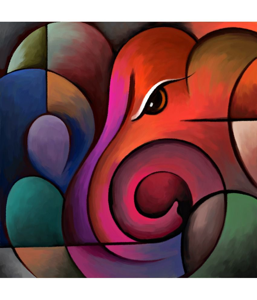 Image Result For Acrylic Canvas Painting Of Ganesha Diy Canvas Art Ganesh Art Paintings Art Painting