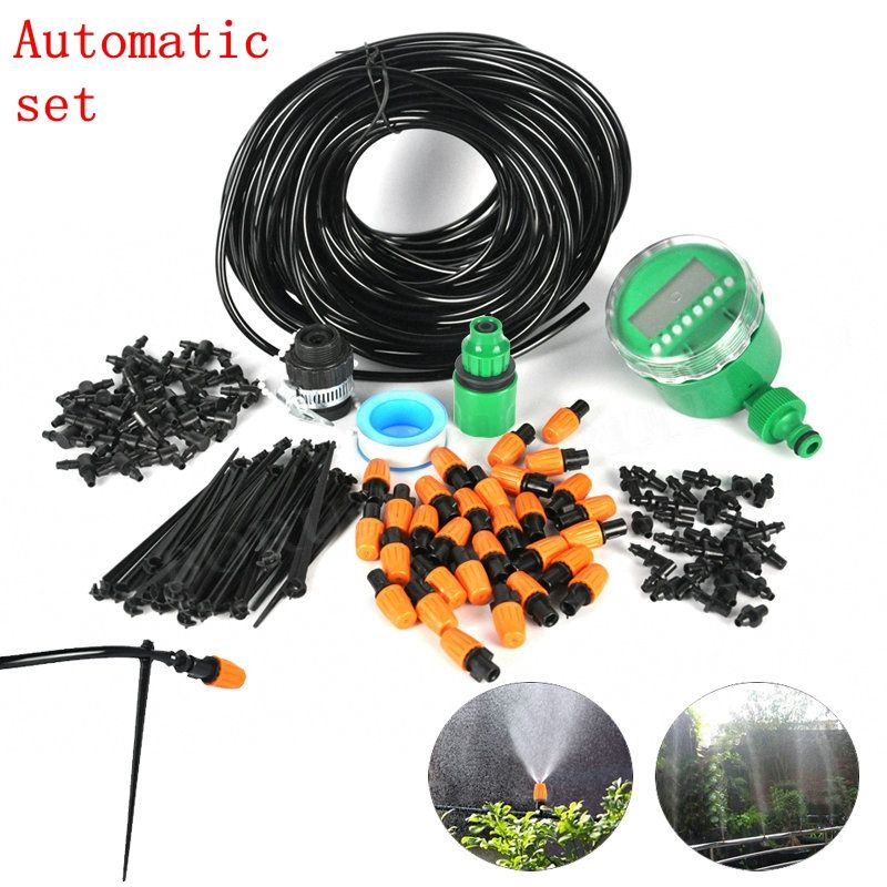25m Diy 4 7 Hose Drip Irrigation System Automatic Garden Plant Self Micro Drip Watering System Irrigation System Diy Irrigation System Sprinkler Irrigation