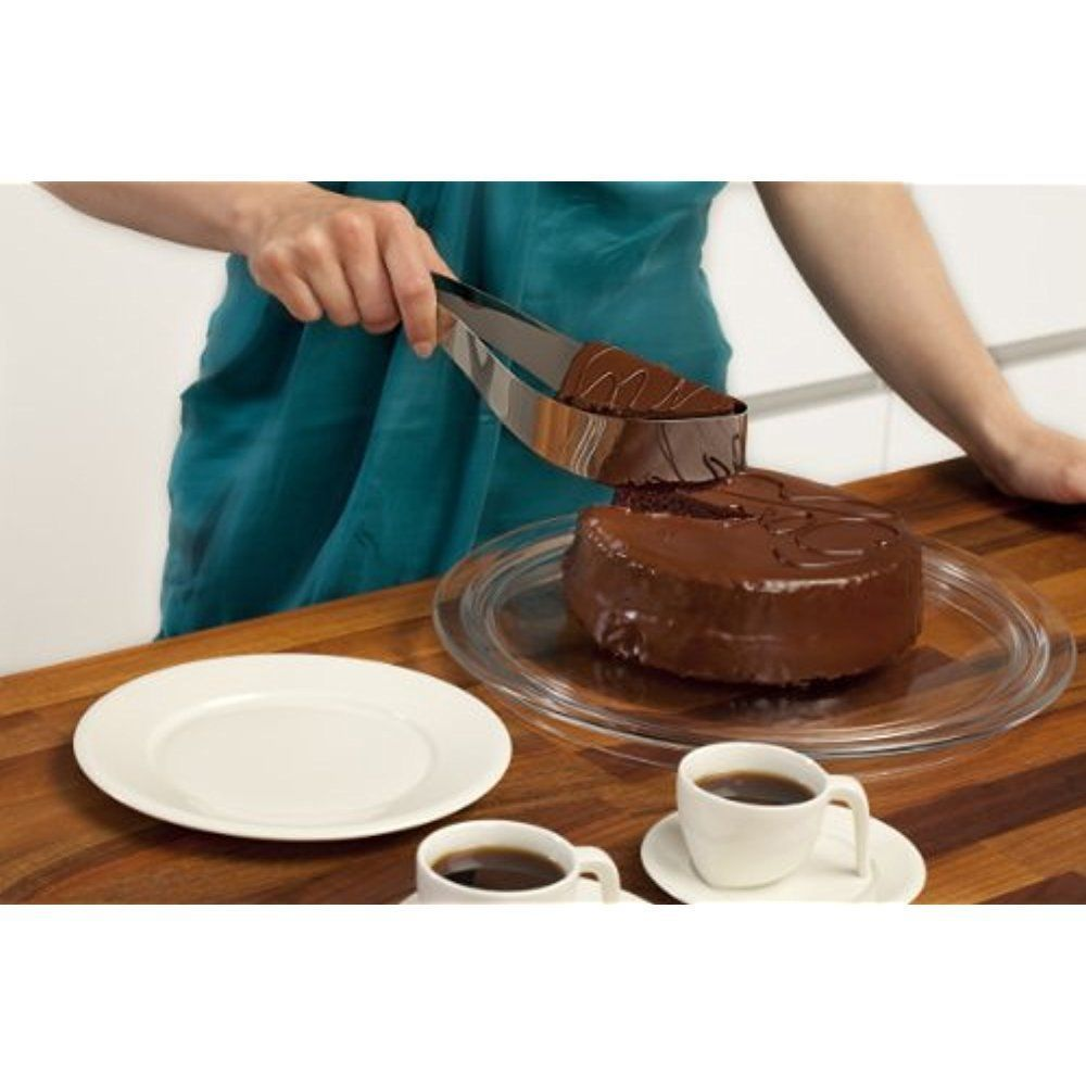 Cake cutter and server stainless steel slicers pie and
