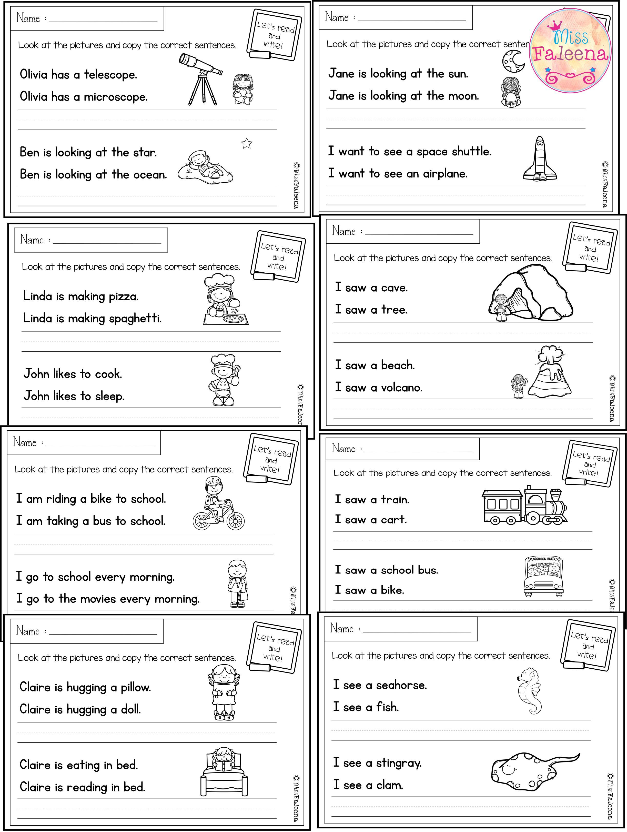 medium resolution of August Sentence Writing has 20 pages of copy the correct sentence. These  pages are great for p…   Sentence writing