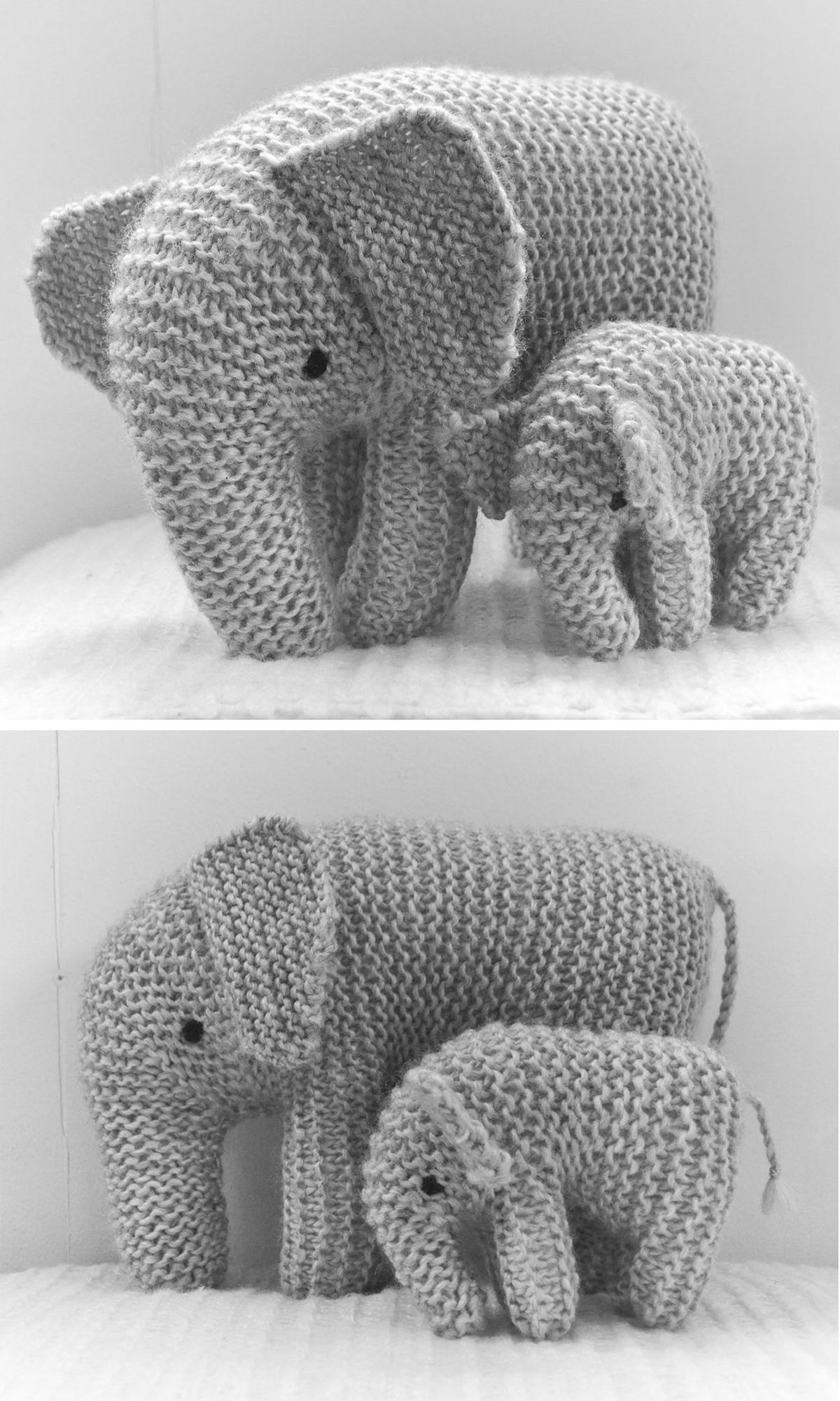 Mother and son elephant - Free pattern #freeknittingpatterns